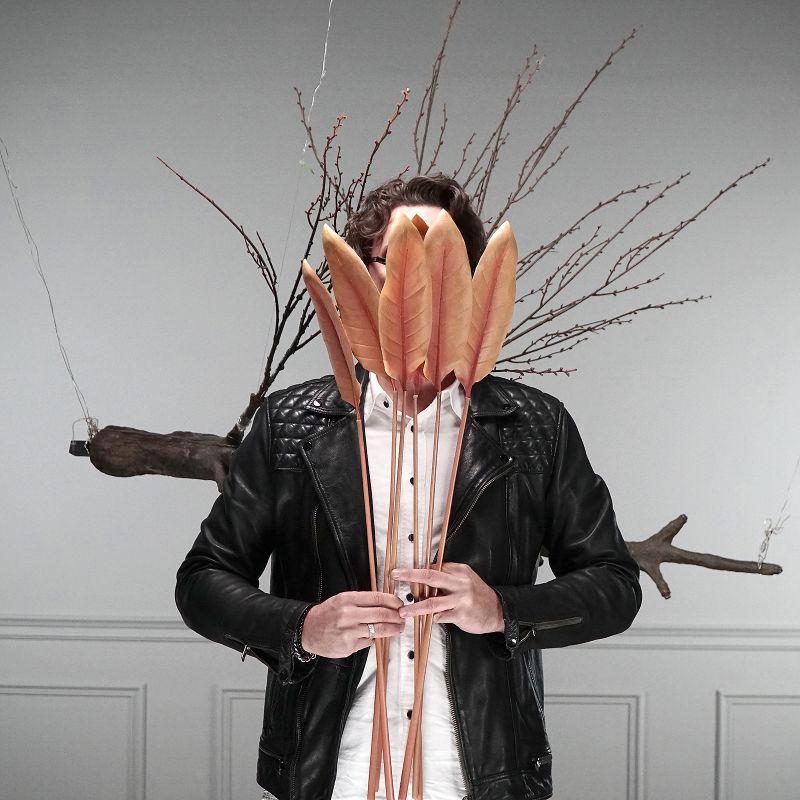 Τεχνητό Φύλλο Πουλί του Παραδείσου Ροζ 90 εκ.