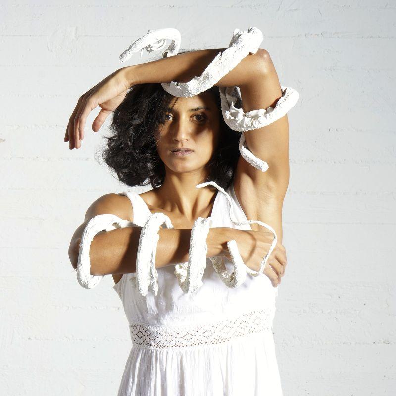 Τεχνητό Κρεμαστό Κλαδί Άσπρο 135 εκ.