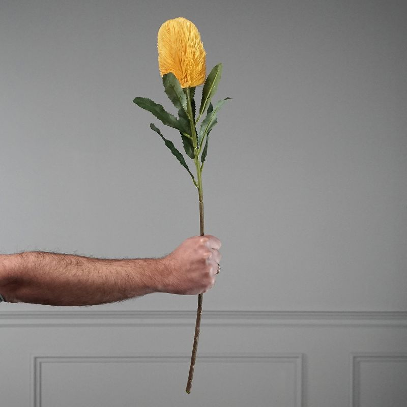 Τεχνητό Κλωνάρι Βαγξία Κίτρινο 65 εκ.