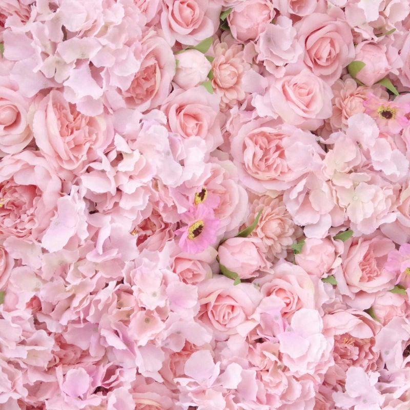 Τεχνητή Φυλλωσιά Ορτανσία με Τριαντάφυλλο, Παιώνια και Μαργαρίτα Σομον 50Χ50 εκ