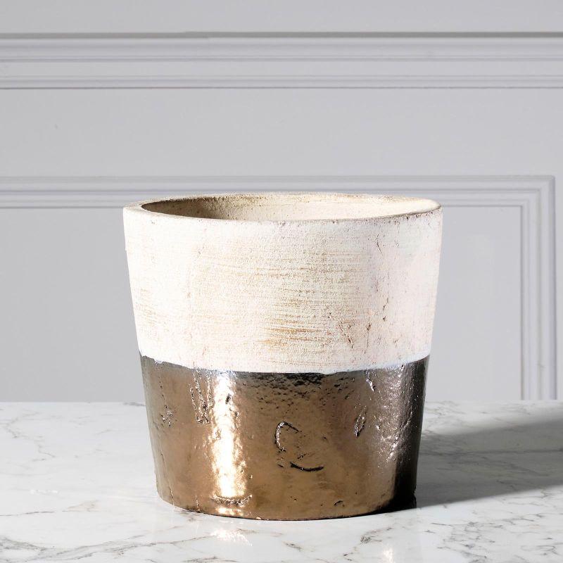 Βάζο Κεραμικό Gold 21,5 εκ.